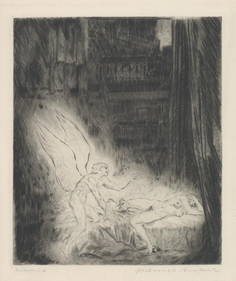 Hanns Anker (1873-1950) Etching