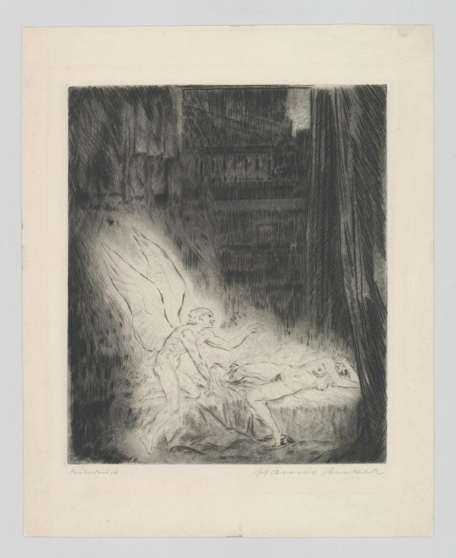 Hanns Anker (1873-1950) Etching - 2