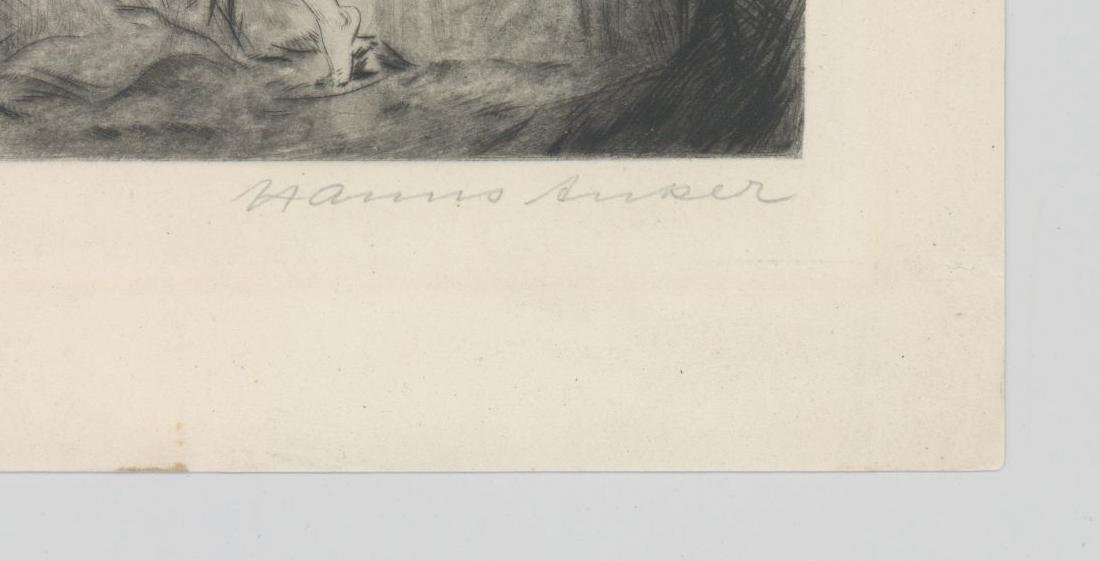 Hanns Anker (1873-1950) Etching - 3