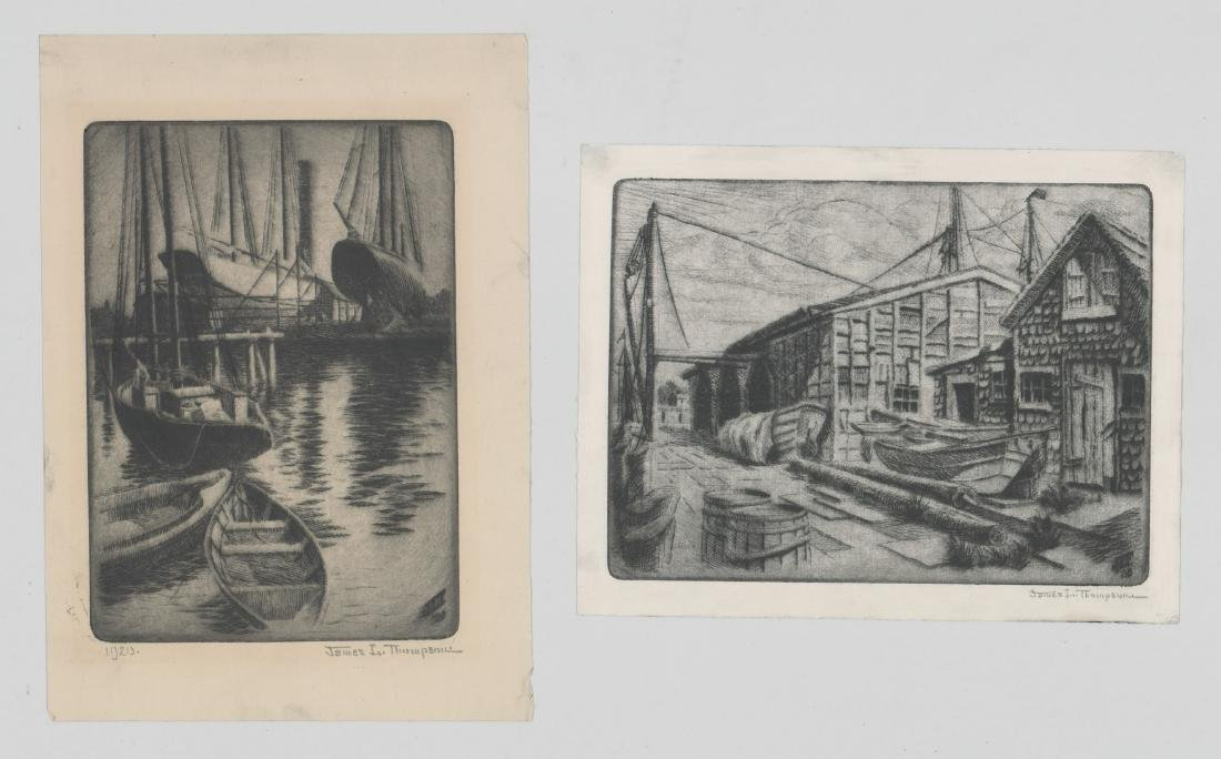 James L. Thompson Gloucester, Ma. Etchings