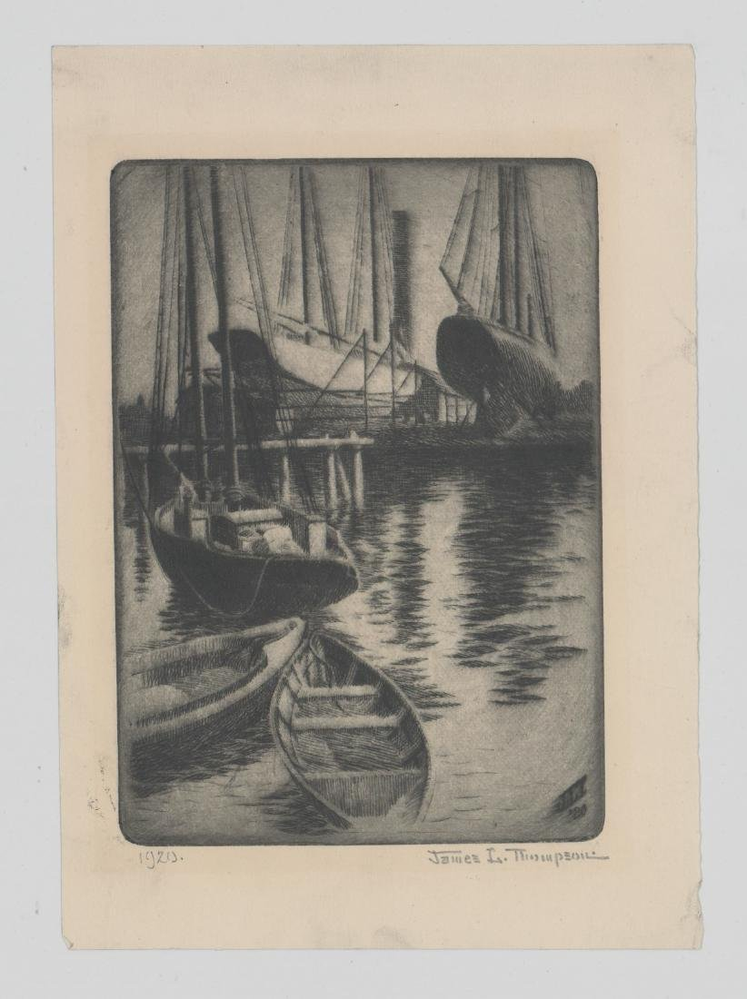 James L. Thompson Gloucester, Ma. Etchings - 2