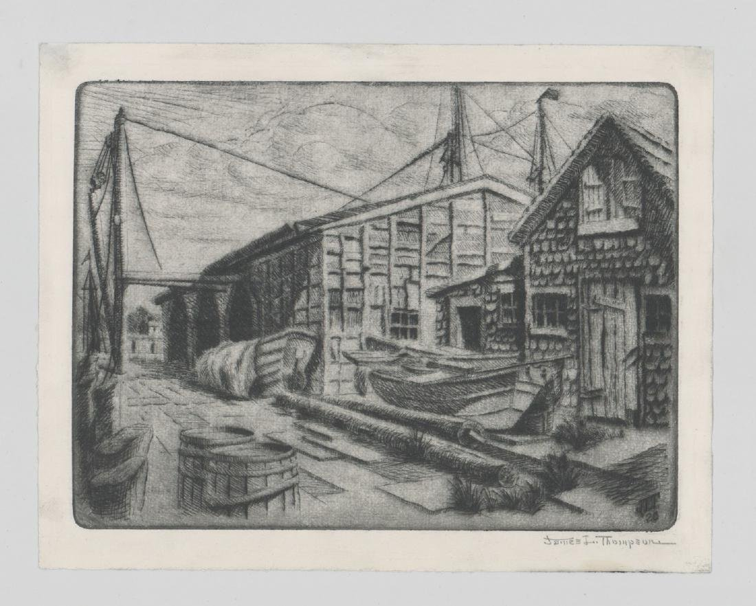 James L. Thompson Gloucester, Ma. Etchings - 3