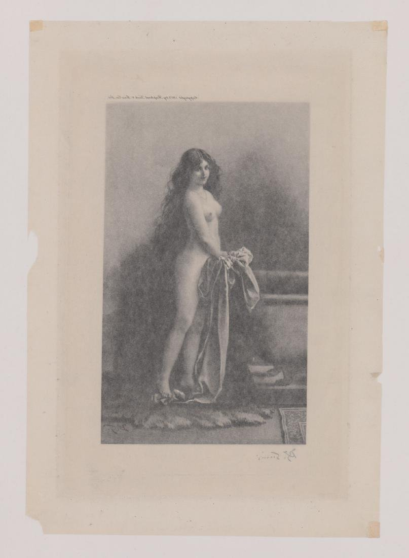 An Antique Signed Print on Tissue - 4