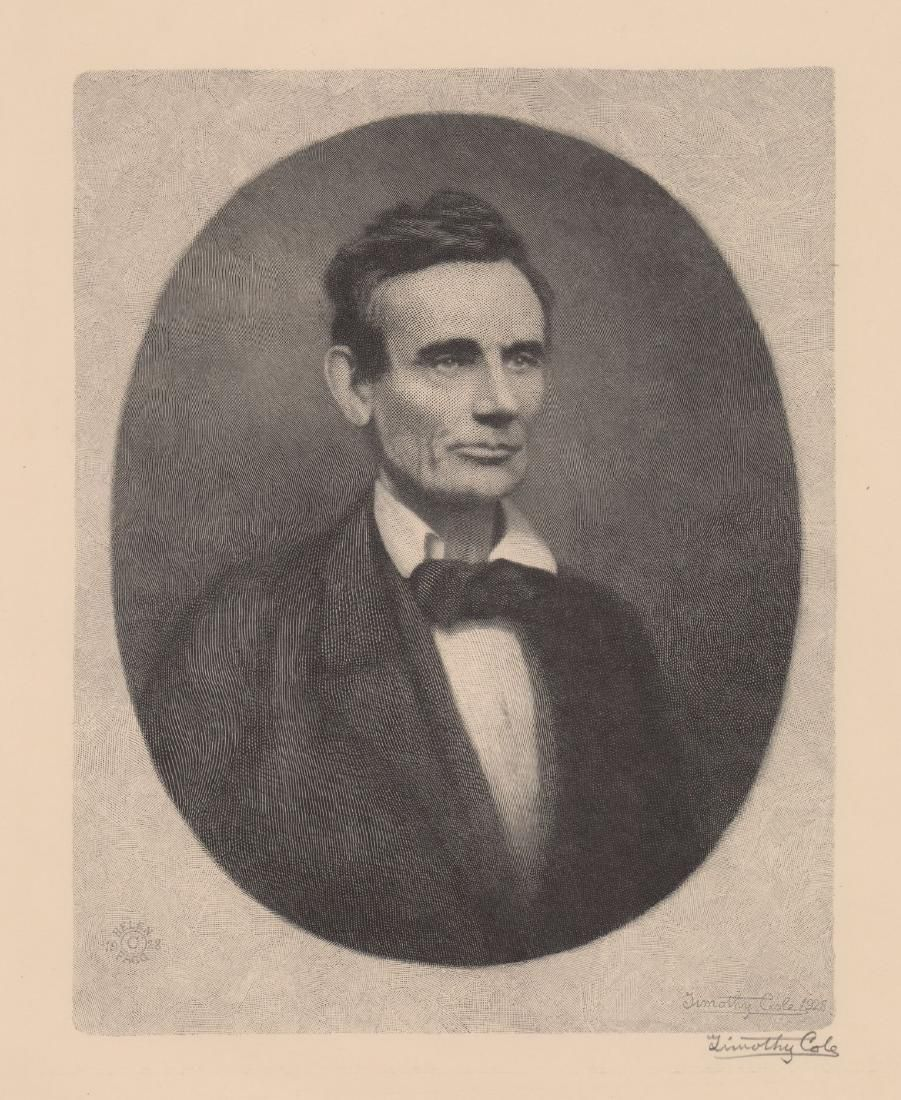 Timothy Cole Wood Engraving [Abraham Lincoln]