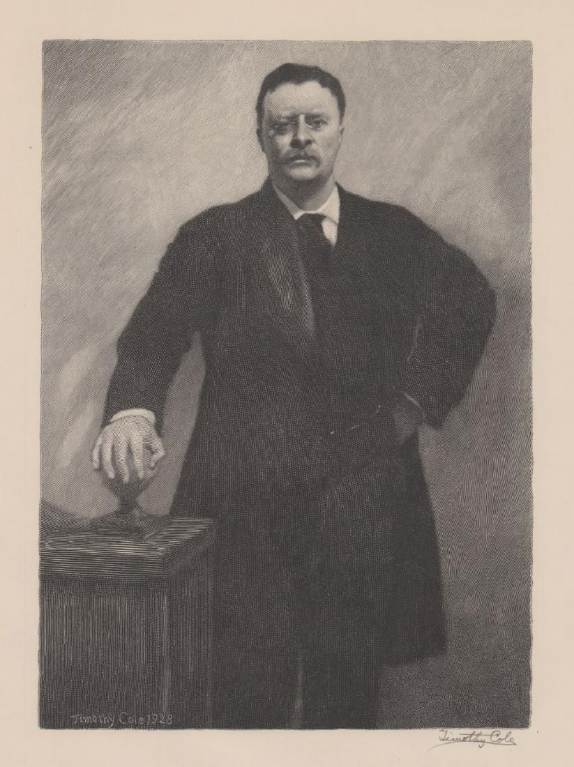 Timothy Cole Wood Engraving [Theodore Roosevelt]