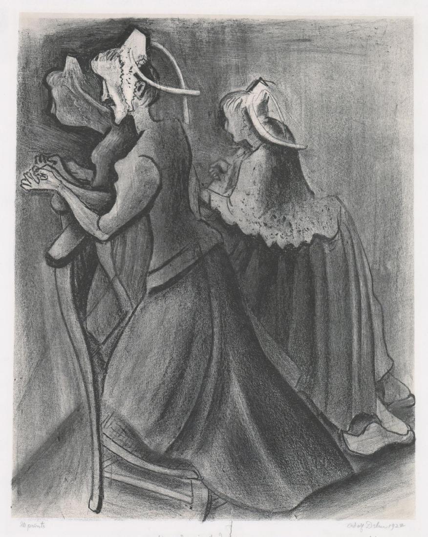 Adolf Dehn Lithograph [Women Praying]
