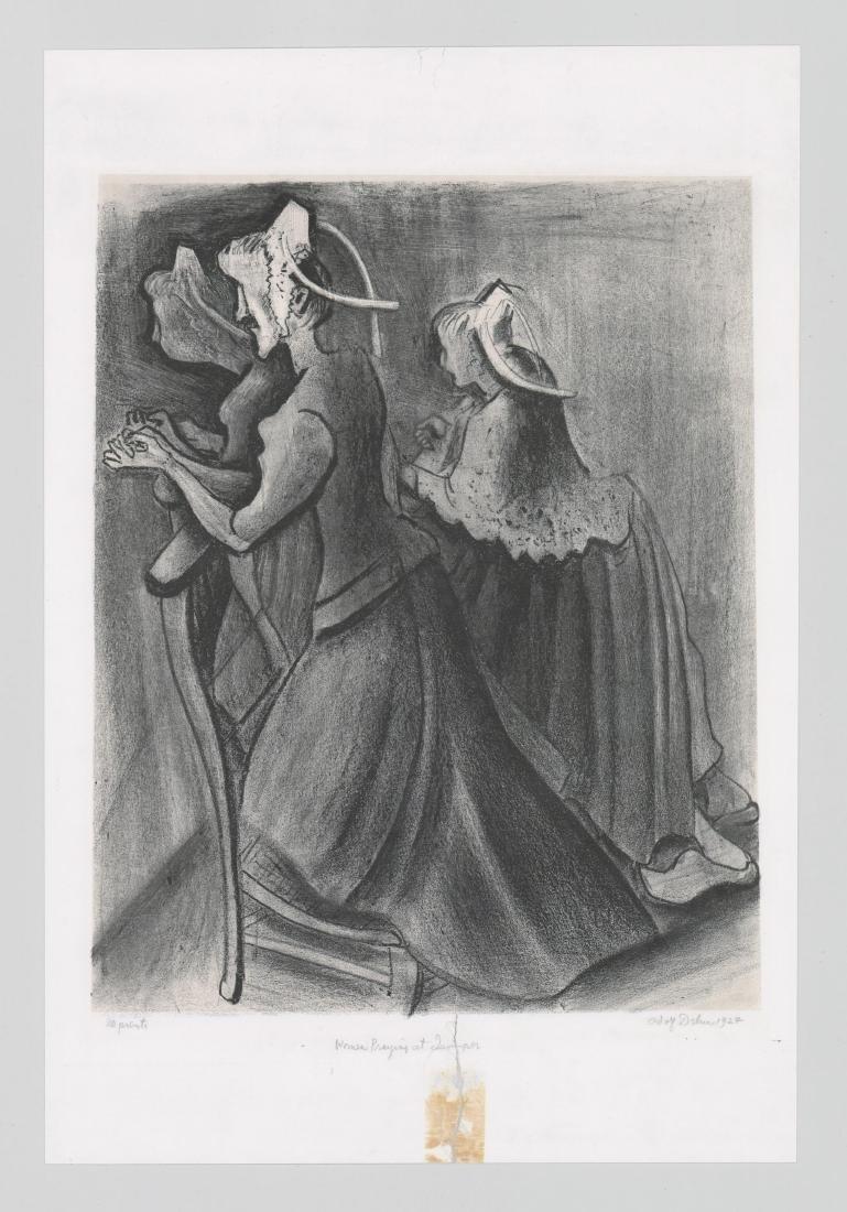 Adolf Dehn Lithograph [Women Praying] - 2