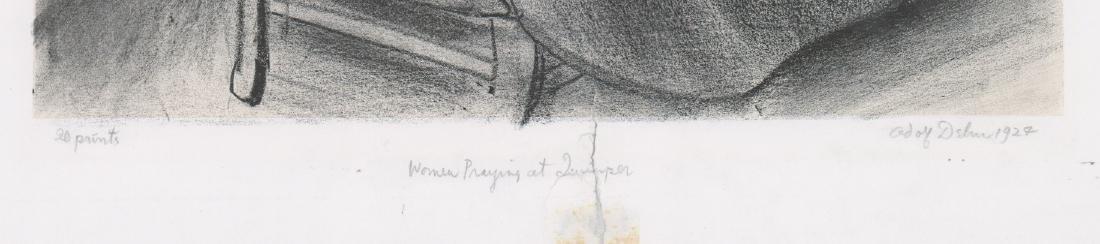 Adolf Dehn Lithograph [Women Praying] - 3