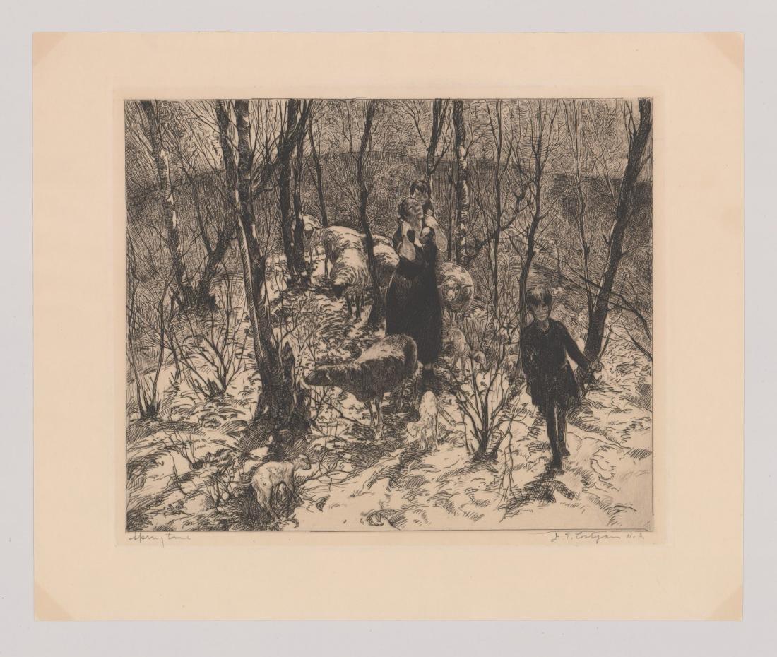 John Costigan Etching [Spring Time] - 2