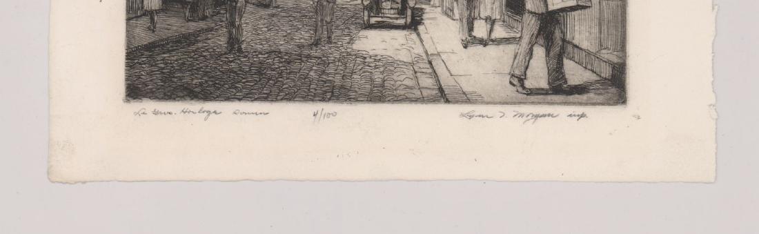 Lynn Morgan (New York born 1889) Etching - 3