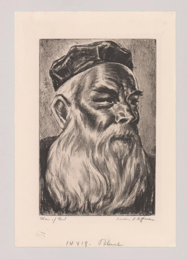 Irwin Hoffman Etching [Man of God] - 2