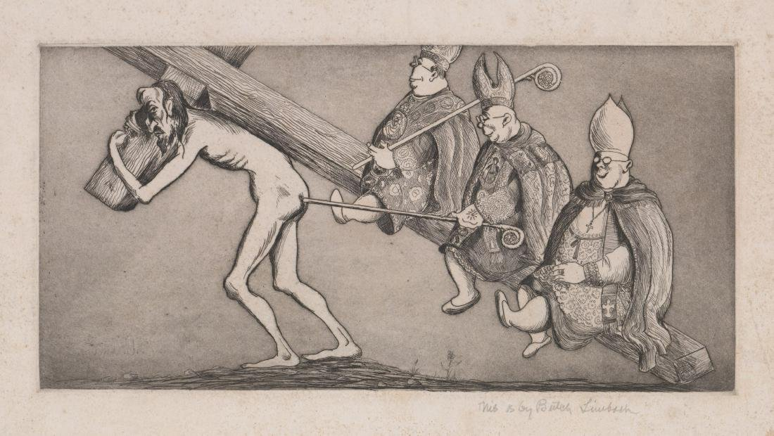 """Russell """"Butch"""" Limbach (1904 - 1971) Etching"""