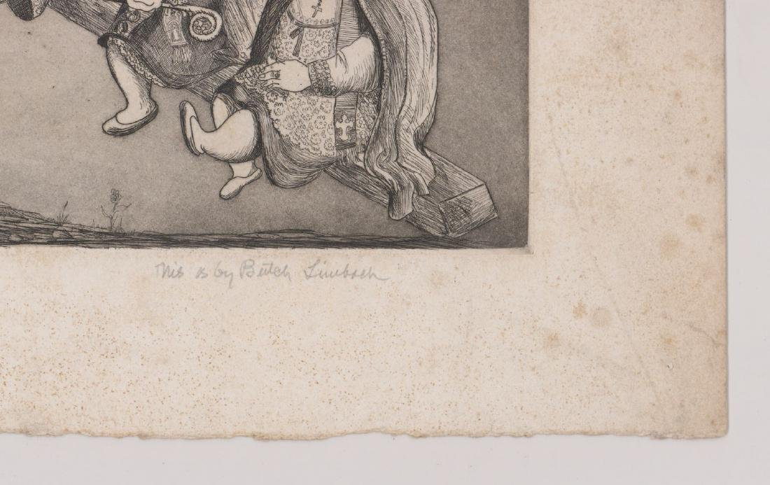 """Russell """"Butch"""" Limbach (1904 - 1971) Etching - 3"""