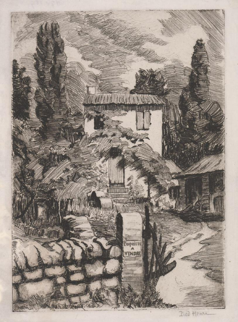 A Signed French Etching