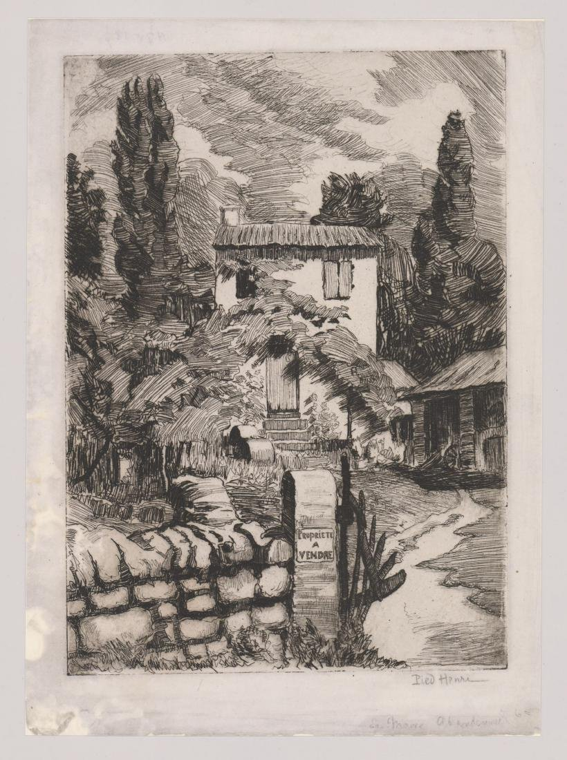 A Signed French Etching - 2