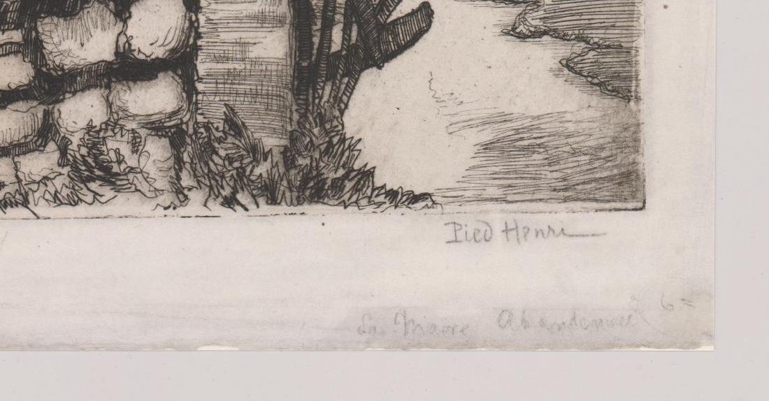 A Signed French Etching - 3