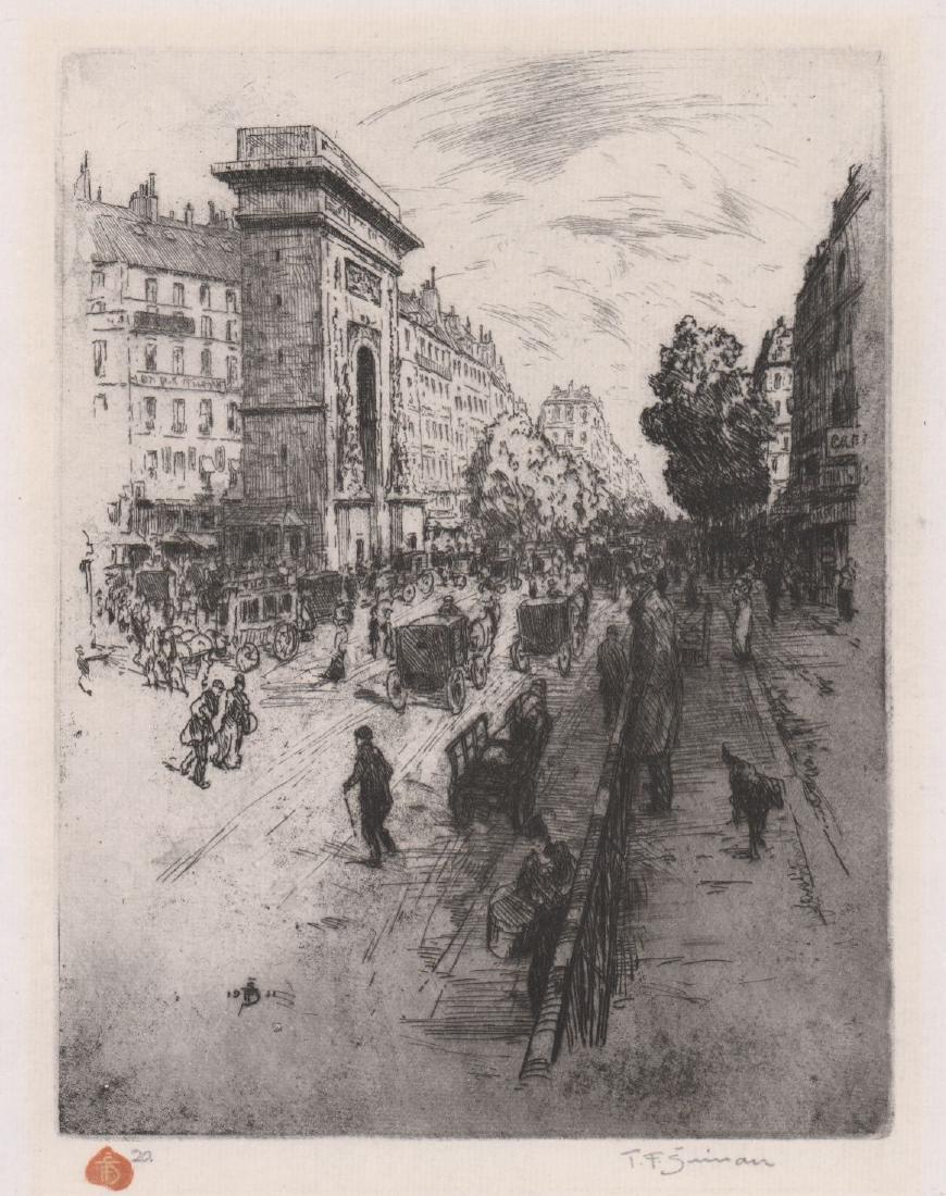 Tavik Frantisek (TF) Simon (1877 - 1942) Etching