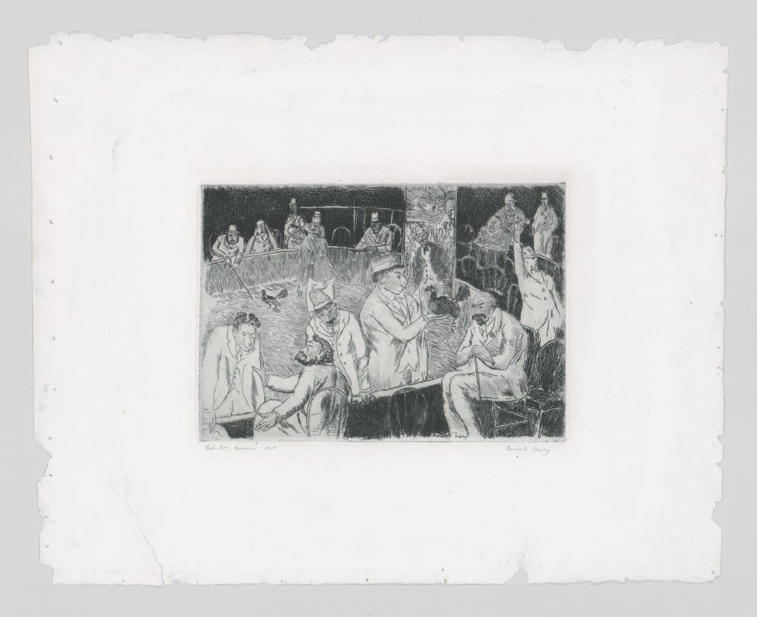 Randall Davey Early Etching [Cock-Pit-Havana] - 2
