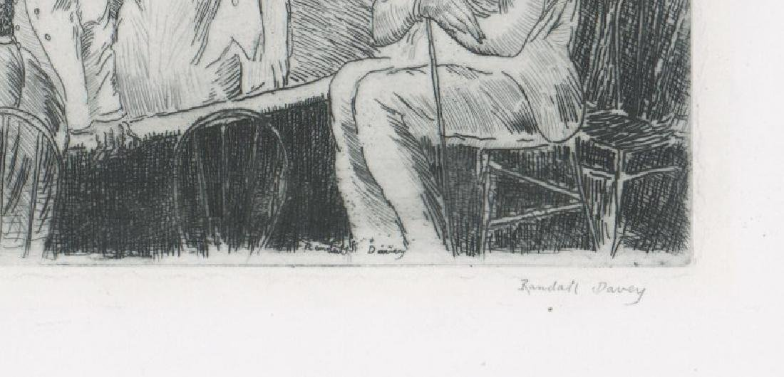 Randall Davey Early Etching [Cock-Pit-Havana] - 3