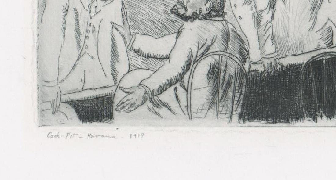 Randall Davey Early Etching [Cock-Pit-Havana] - 4
