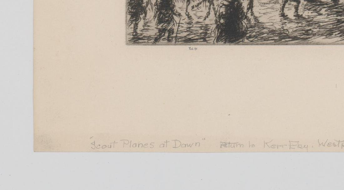 Kerr Eby Etching [Scout Planes at Dawn] - 4
