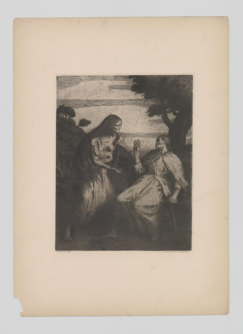 William Strang Signed Etching, Dated 1882 - 2