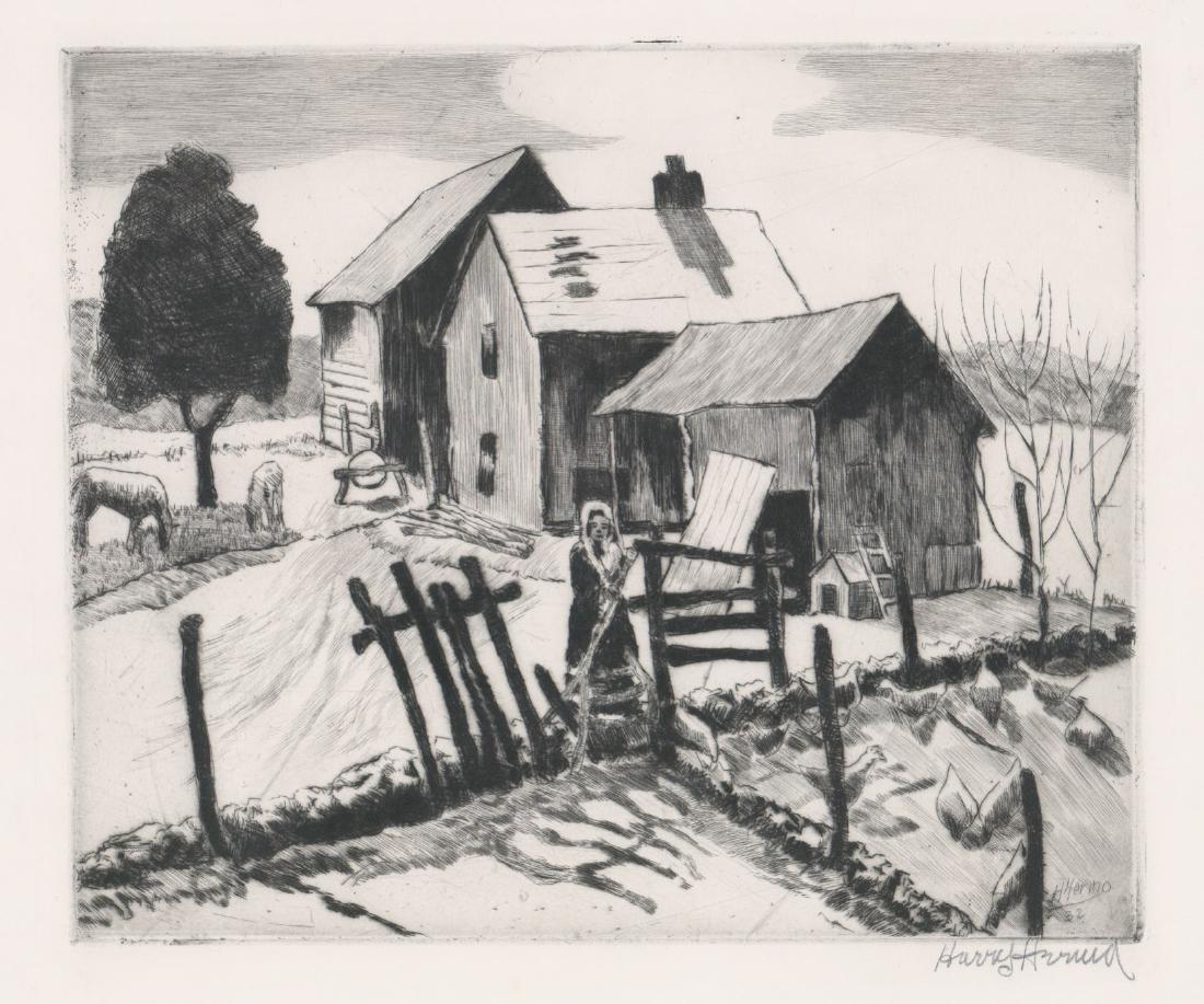 Harry Hering (New York 1887-1967) Etching