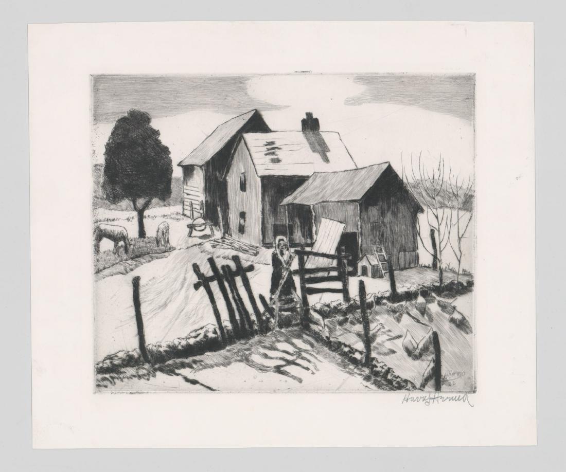 Harry Hering (New York 1887-1967) Etching - 2