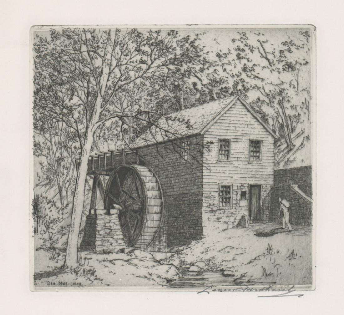 Leon Pescheret (1892-1971) Etching