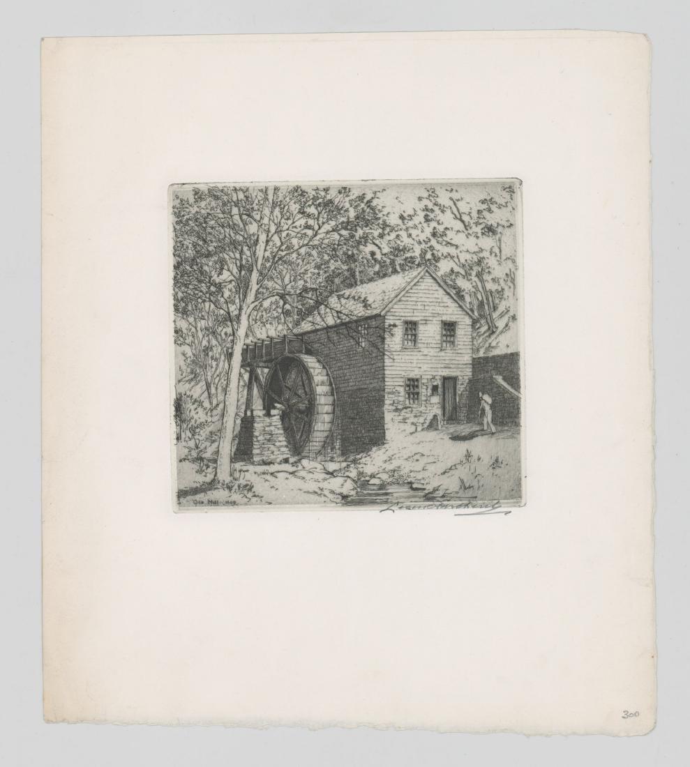 Leon Pescheret (1892-1971) Etching - 2