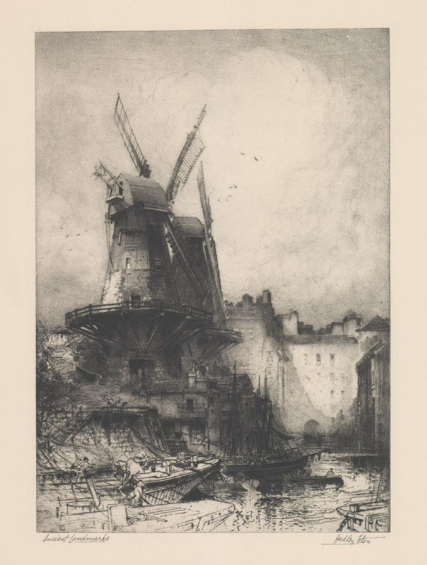 Hedley Fitton Etching [Ancient Landmarks]