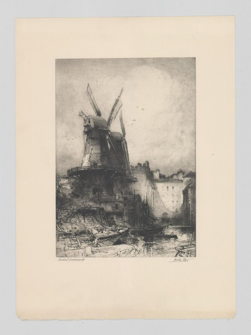 Hedley Fitton Etching [Ancient Landmarks] - 2
