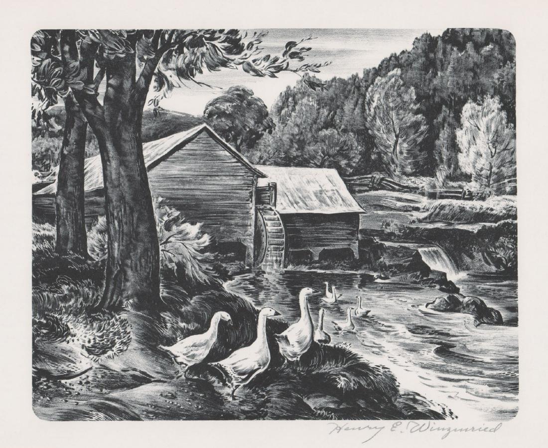 Henry E. Winzenreid (1892 - 1981) Lithograph