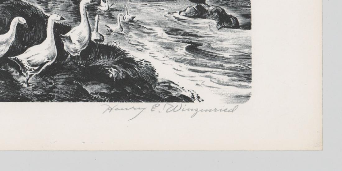 Henry E. Winzenreid (1892 - 1981) Lithograph - 3