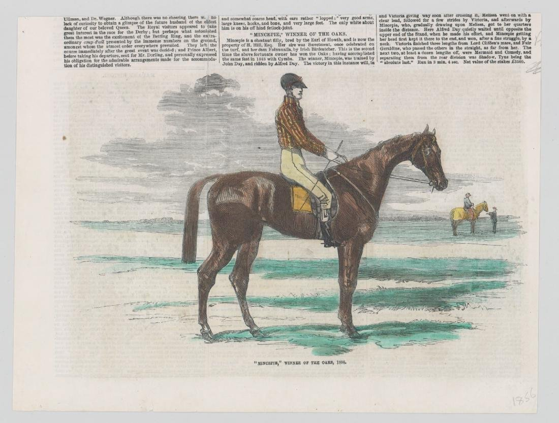 Group of Five 19th Century Horse Racing Prints - 5
