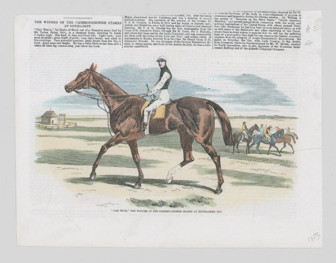Group of Five 19th Century Horse Racing Prints - 6