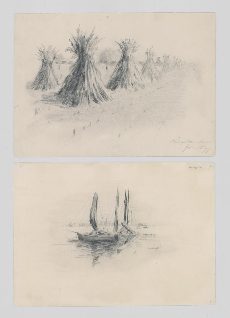 Harry Neyland Pair Original Drawings