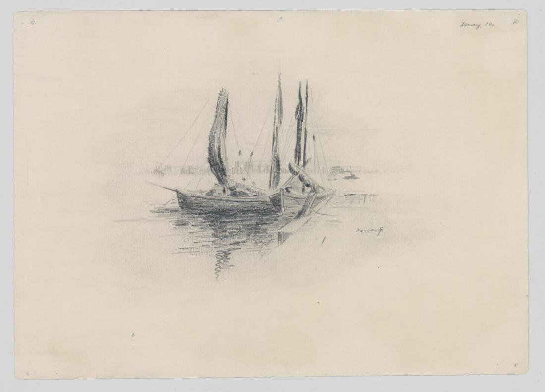 Harry Neyland Pair Original Drawings - 2