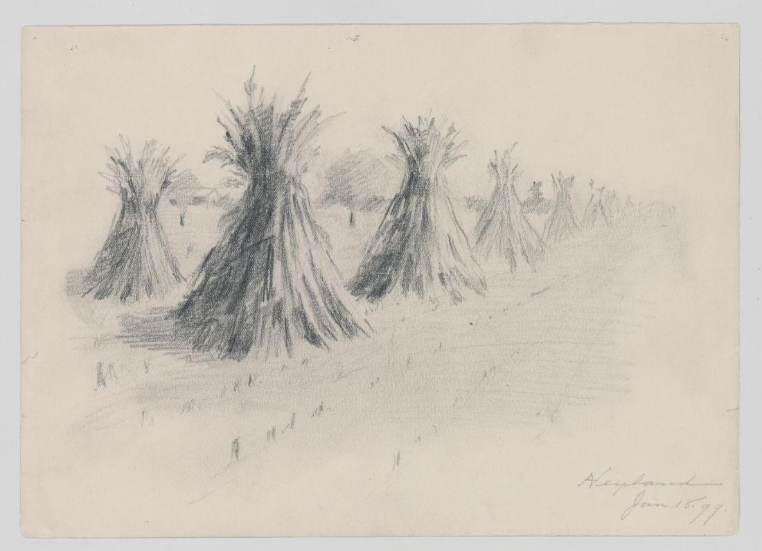 Harry Neyland Pair Original Drawings - 3