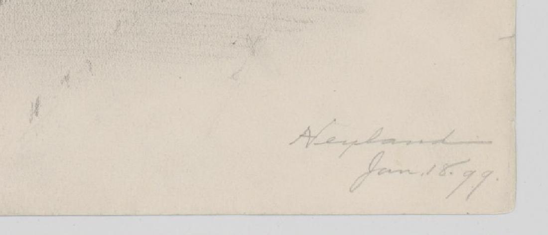 Harry Neyland Pair Original Drawings - 4