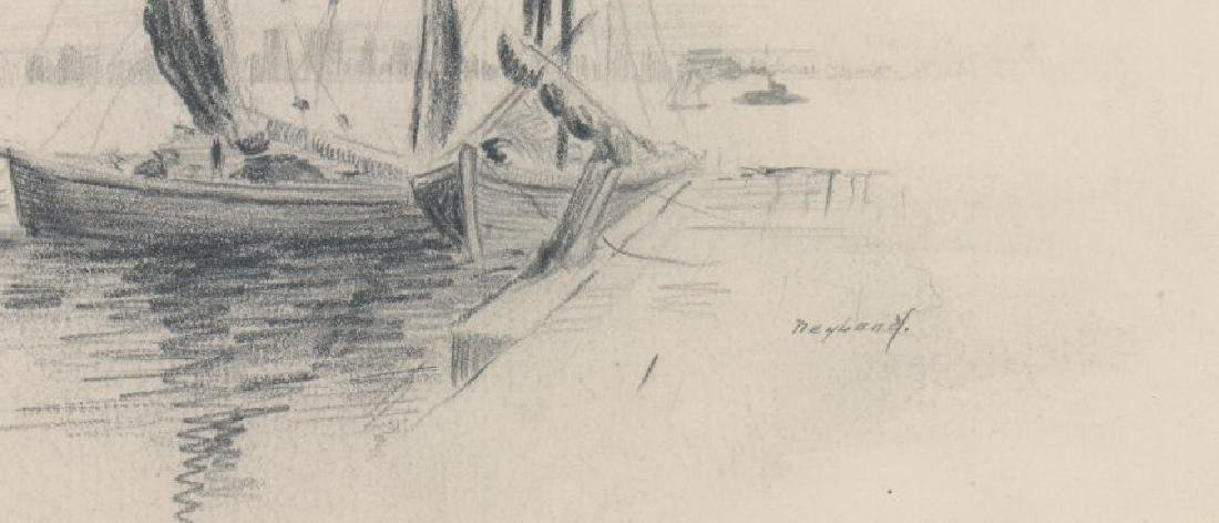 Harry Neyland Pair Original Drawings - 5
