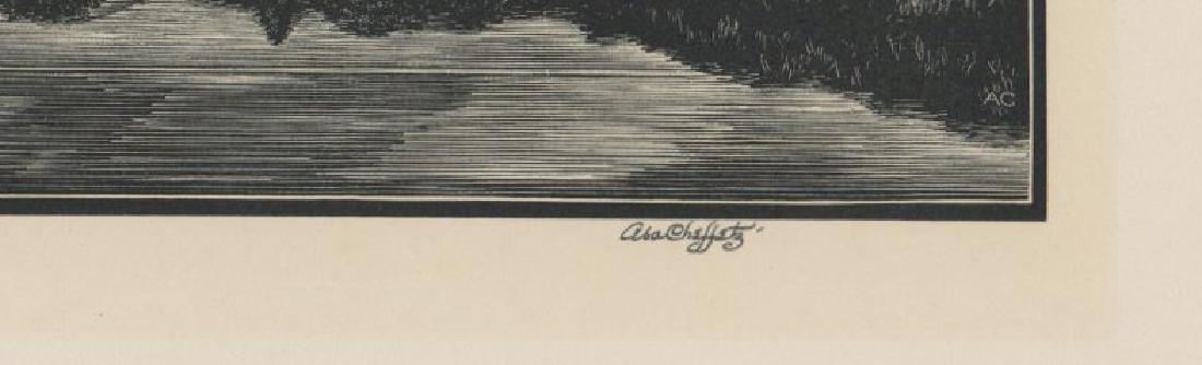 Asa Cheffetz Wood Engraving - 3