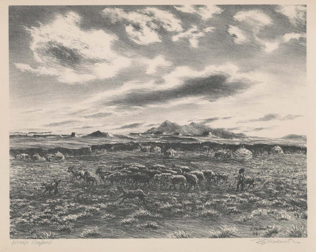 Ira Moskowitz Lithograph [Navajo Shepherd]