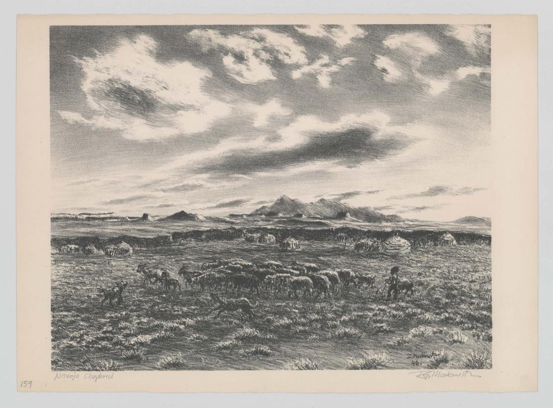 Ira Moskowitz Lithograph [Navajo Shepherd] - 2