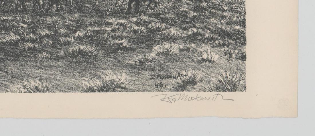 Ira Moskowitz Lithograph [Navajo Shepherd] - 3