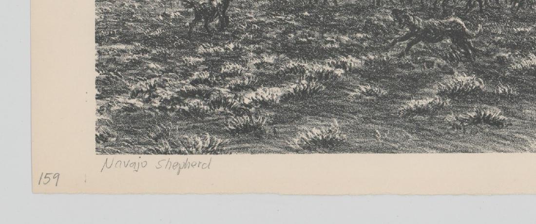 Ira Moskowitz Lithograph [Navajo Shepherd] - 4