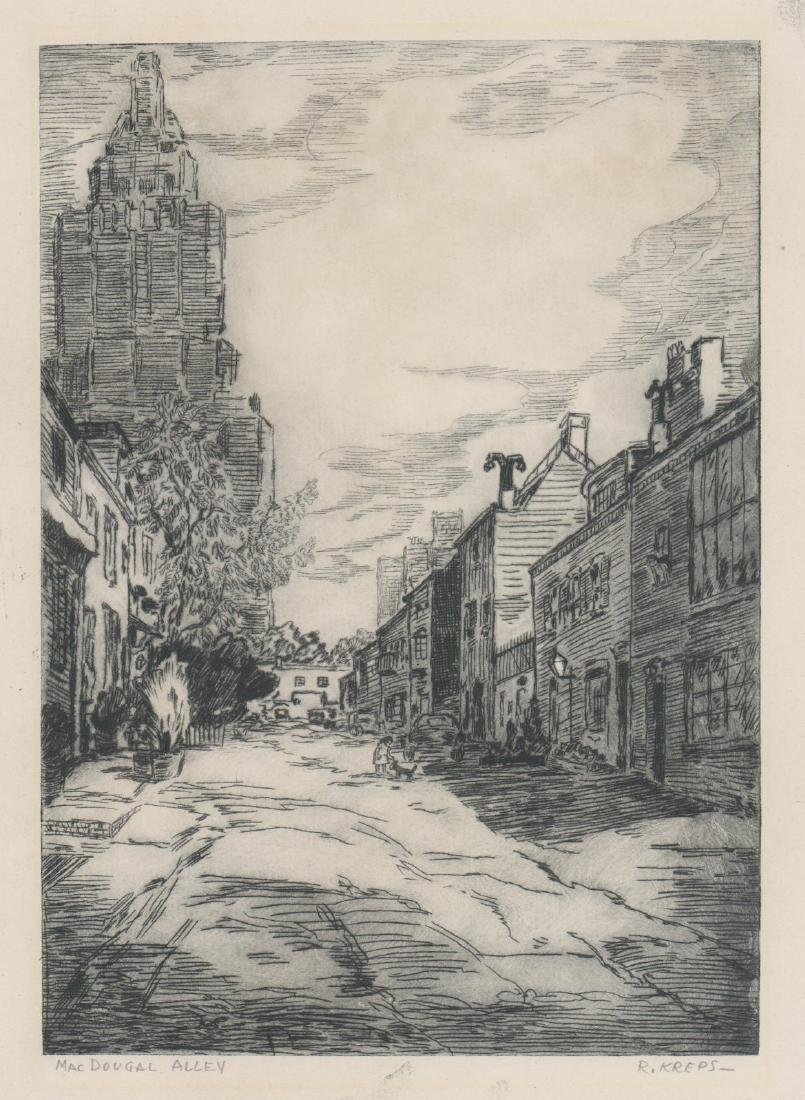 Ruth Kreps (Washington born 1900) Etching