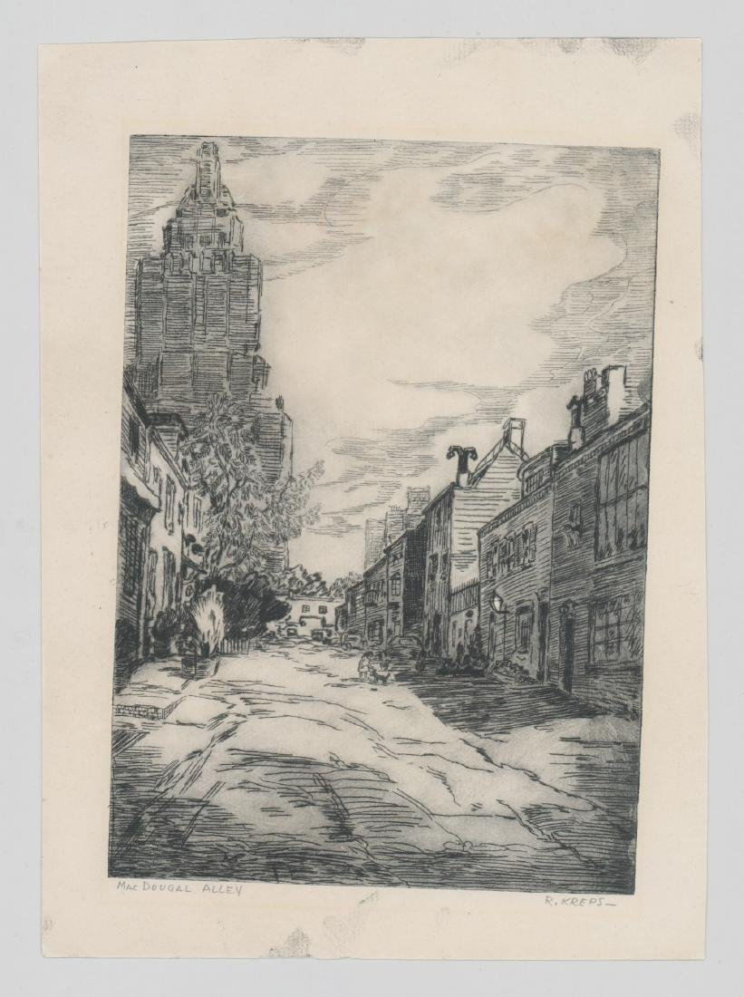 Ruth Kreps (Washington born 1900) Etching - 2