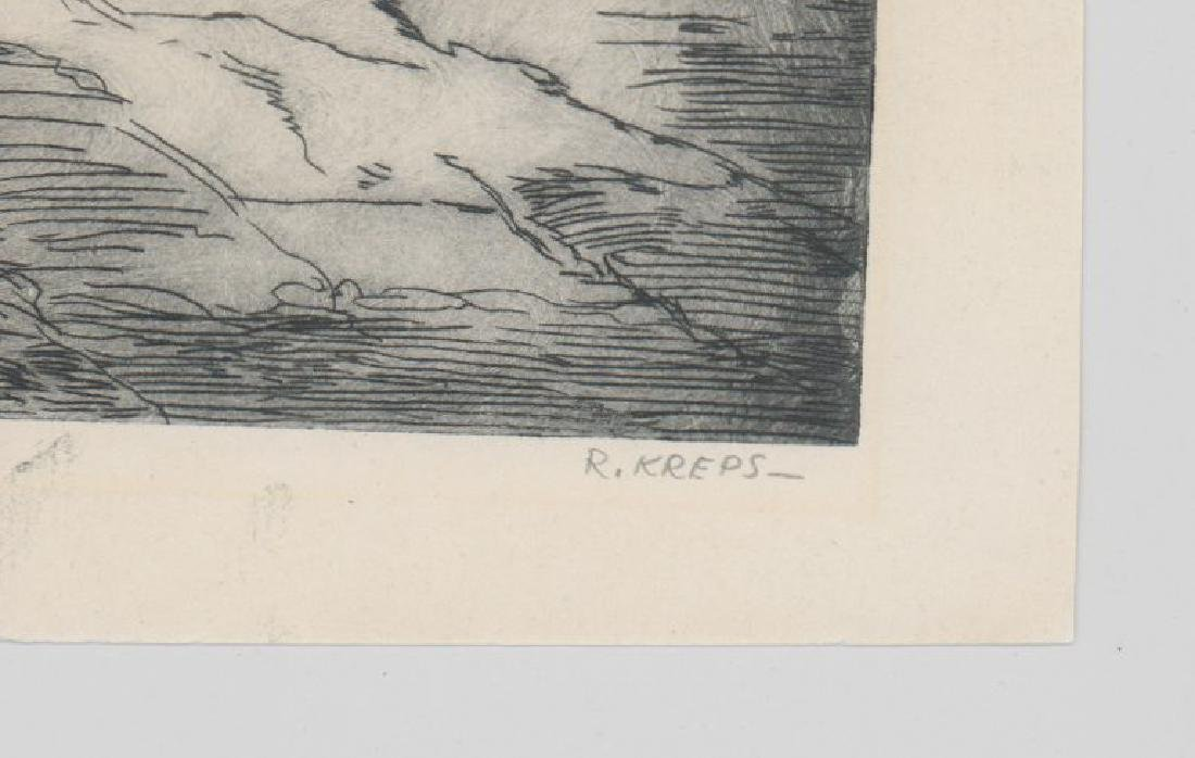 Ruth Kreps (Washington born 1900) Etching - 3
