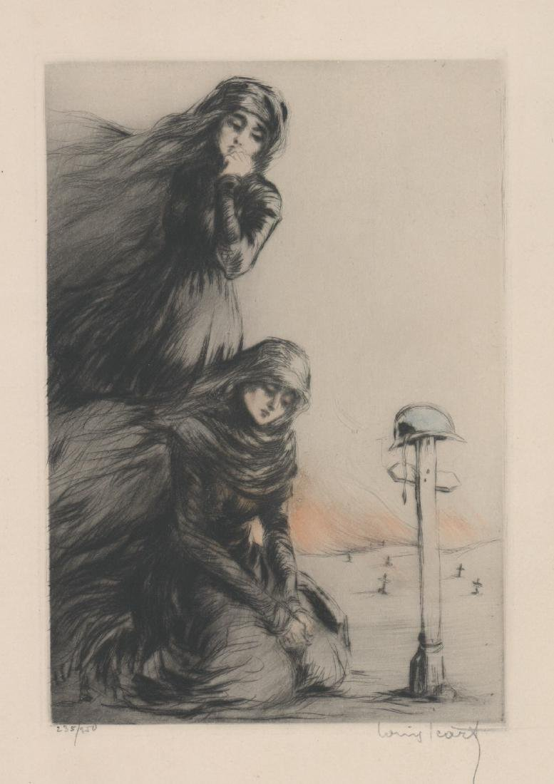 Louis Icart Etching [The War Widow]